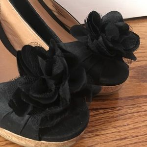 DSW Shoes - Black Wedges